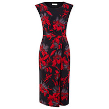 Buy Precis Petite Floral Print Jersey Dress, Red Online at johnlewis.com