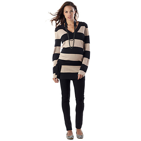 Buy Séraphine Celeste Jumper, Black/Sand Online at johnlewis.com