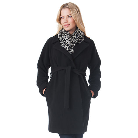 Buy Séraphine Catherine Coat, Black Online at johnlewis.com