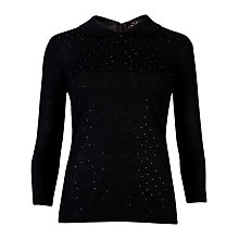 Buy Ted Baker Bronty Sparkle Collar Jumper, Black Online at johnlewis.com