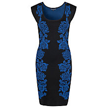 Buy French Connection Spotlight Freize Dress, Midnight/Electric Blue Online at johnlewis.com