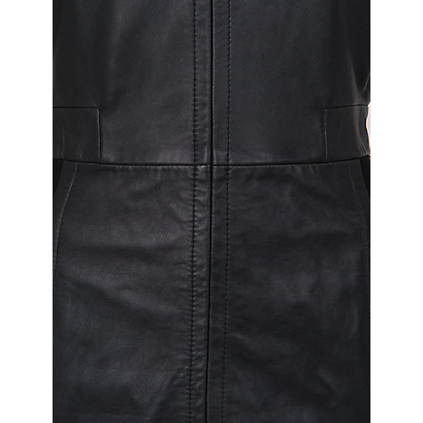 Buy French Connection Treasure Leather Stretch Dress, Black Online at johnlewis.com