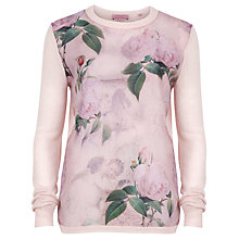 Buy Ted Baker Sissi Timeless Romantic Print Jumper, Light Pink Online at johnlewis.com