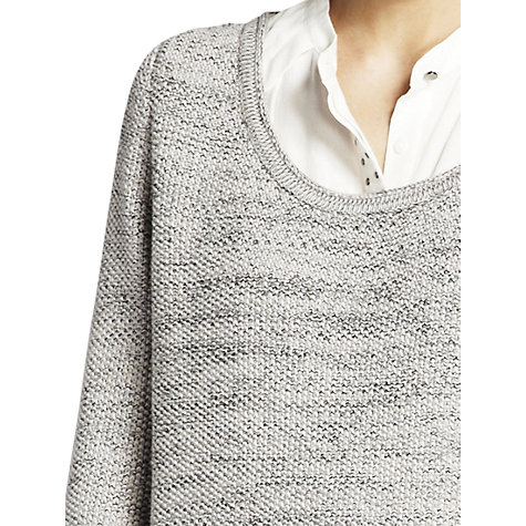 Buy Mint Velvet Waffle Jumper, Grey Online at johnlewis.com