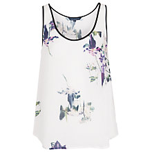 Buy French Connection Water Flower Drape Vest Online at johnlewis.com