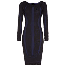 Buy Reiss Neo Lace Bodycon Dress, Black Online at johnlewis.com