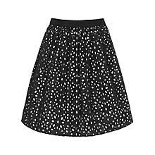 Buy Reiss Belle Cut Out Technique Skirt, Black/White Online at johnlewis.com