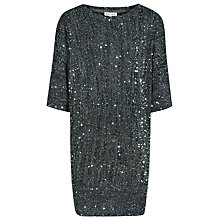Buy Reiss Lewes Sequin Jumper, Smoke Online at johnlewis.com