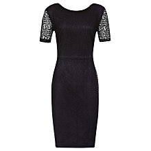 Buy Reiss Ainsley Bow Back Lace Dress, Black Online at johnlewis.com