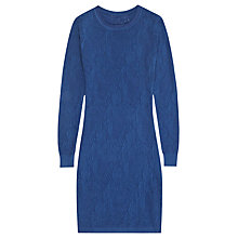 Buy Reiss Pointelle Knitted Dress, Cobalt Online at johnlewis.com