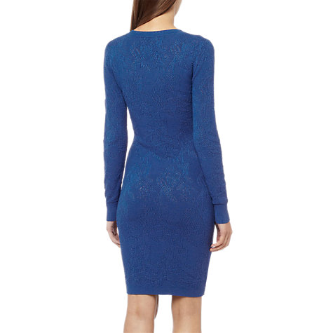 Buy Reiss Bobbina Pointelle Knit Dress, Cobalt Online at johnlewis.com