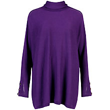 Buy Ted Baker Kinsey Roll Neck Rectangle Jumper, Deep Purple Online at johnlewis.com