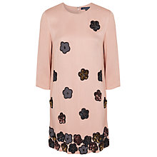 Buy French Connection Daisy Maze Dress, Mahogany/Nude Online at johnlewis.com