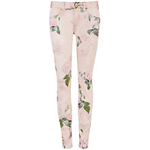 Buy Ted Baker Tallya Romantic Timeless Print Jeans, Light Pink Online at johnlewis.com
