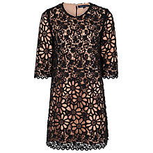 Buy French Connection Daisy Dress, Black Lace/Warm Nougat Online at johnlewis.com