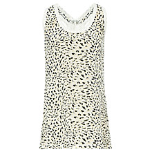 Buy Reiss Silk Front Racer Tank Top, Multi Online at johnlewis.com
