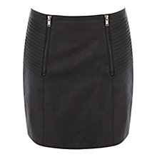 Buy Oasis Pleated Zip Detail Miniskirt, Black Online at johnlewis.com