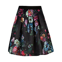 Buy Ted Baker Flowtii Oil Painting Skirt, Black Online at johnlewis.com