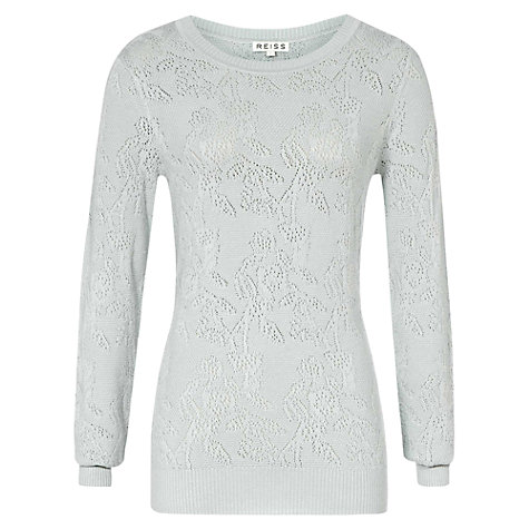 Buy Reiss Bobbi Pointelle Knit Jumper Online at johnlewis.com