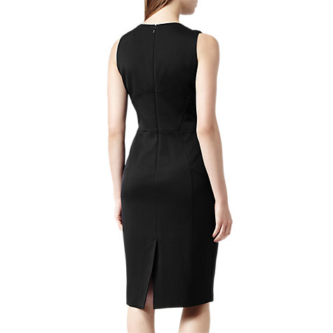 Buy Reiss Brightwell Panelled Bodycon Dress, Black Online at johnlewis.com