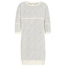 Buy Reiss Jaden Jersey Sweatshirt Dress, Grey Online at johnlewis.com