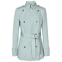 Buy Reiss Caines Short Mac, Aqua Online at johnlewis.com