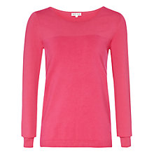 Buy Reiss Knowsley Contrast Knit, Pink Online at johnlewis.com