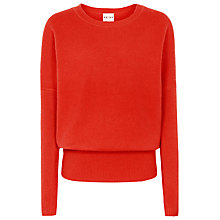 Buy Reiss Lewes Rib Jumper, Scarlet Online at johnlewis.com