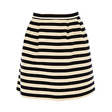 Buy Oasis Stripe Skirt, Multi Black Online at johnlewis.com