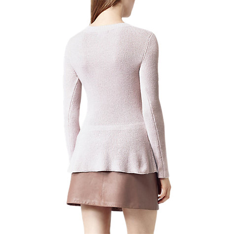 Buy Reiss Tigard Peplum Jumper, Dusty Rose Online at johnlewis.com