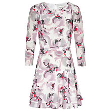 Buy Reiss Giselle Frill Skirt Print Dress, Rose Online at johnlewis.com