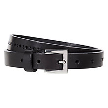 Buy Hobbs Lara Belt, Black Online at johnlewis.com