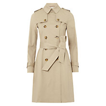 Buy Hobbs Saskia Trench Coat, Stone Online at johnlewis.com