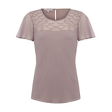 Buy Jacques Vert Embroidered Shell Top, Mink Online at johnlewis.com