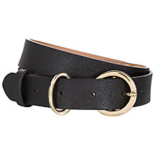 Buy Hobbs Jana Belt, Black Online at johnlewis.com