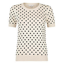 Buy Hobbs Megan Sweater, Parchment/Black Online at johnlewis.com