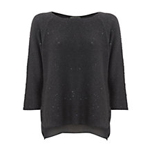 Buy Mint Velvet Damson Sequin Detail Jumper, Purple Online at johnlewis.com
