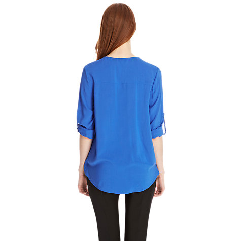 Buy Oasis Wrap Shirt, Rich Blue Online at johnlewis.com