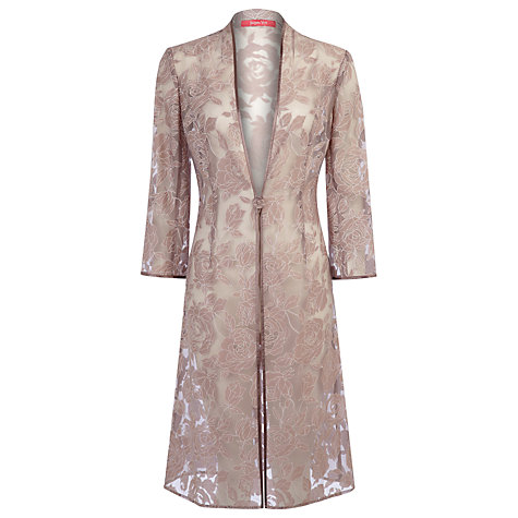 Buy Jacques Vert Burnout Longline Jacket, Mink Online at johnlewis.com