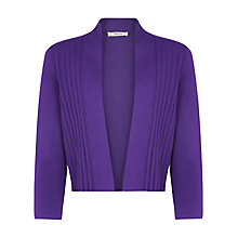 Buy Precis Petite Pleated Shrug, Purple Online at johnlewis.com