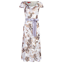 Buy Jacques Vert Floral Print Tea Dress, Blue/Brown Online at johnlewis.com