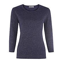 Buy Windsmoor Lurex Jumper, Purple Online at johnlewis.com