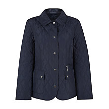 Buy Precis Petite Quilted Jacket, Blue Online at johnlewis.com