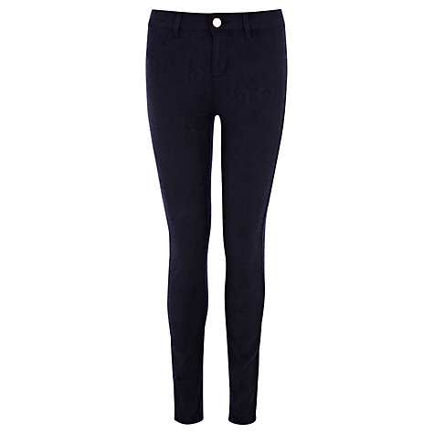 Buy Oasis Jade Jacquard Jeans, Rich Blue Online at johnlewis.com