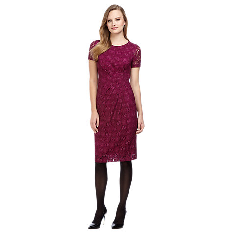 Buy Planet Lace Shift Dress, Red Online at johnlewis.com