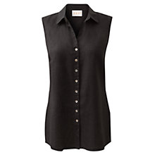 Buy East Sleeveless Linen Shirt, Black Online at johnlewis.com