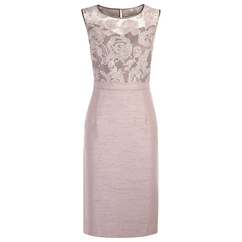 Buy Jacques Vert Burnout Shift Dress, Mink Online at johnlewis.com