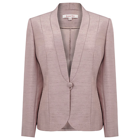 Buy Jacques Vert Shawl Collar Jacket, Mink Online at johnlewis.com