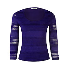 Buy Precis Petite Lace Top, Purple Online at johnlewis.com