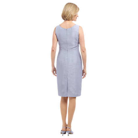 Buy Jacques Vert Embroidered Dress, Blue Online at johnlewis.com